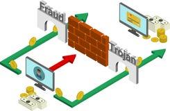 Concepto que corta isométrico stock de ilustración