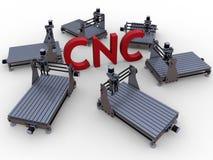 Concepto que trabaja a máquina del CNC ilustración del vector