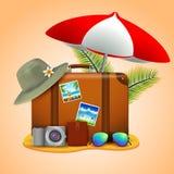 Concepto que viaja de las vacaciones ilustración del vector
