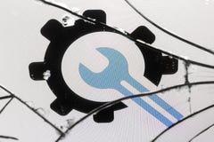 Concepto quebrado del pantalla-icono foto de archivo libre de regalías