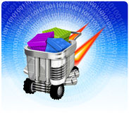 Concepto rápido de la tecnología del comercio electrónico Fotografía de archivo libre de regalías