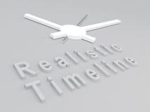 Concepto realista de la cronología ilustración del vector