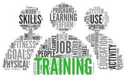 Concepto relacionado de las palabras de entrenamiento y de la educación Fotografía de archivo libre de regalías