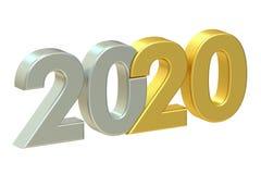 2020 concepto, representación 3D Fotografía de archivo