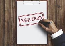 Concepto requerido petición de la información de reacción de la respuesta imagen de archivo libre de regalías