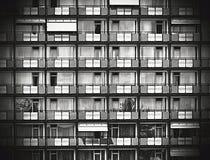 Concepto residencial blanco y negro del vintage Foto de archivo