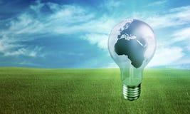 Concepto respetuoso del medio ambiente de la energía Fotos de archivo libres de regalías