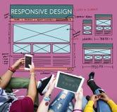 Concepto responsivo del contenido de la disposición de diseño fotografía de archivo libre de regalías