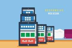 Concepto responsivo del diseño web Imágenes de archivo libres de regalías