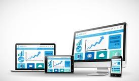 Concepto responsivo del diseño web del negocio Fotografía de archivo libre de regalías
