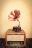 Concepto retro de la música Fotografía de archivo
