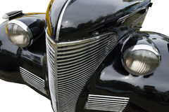 Concepto retro del vehículo del coche clásico de la vendimia aislado Imagenes de archivo