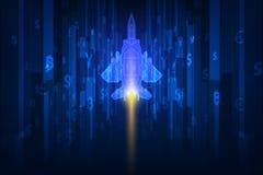 Concepto Rocket Vector de la bandera de la competencia de la puesta en marcha del negocio y ejemplo libre illustration