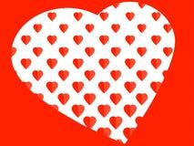 Concepto rojo amoroso romántico elegante ilustración del vector