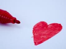 Concepto rojo del corazón Imagen de archivo libre de regalías
