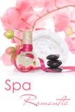 Concepto romántico del balneario en color de rosa imágenes de archivo libres de regalías