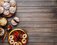 Concepto ruso de la comida imagenes de archivo