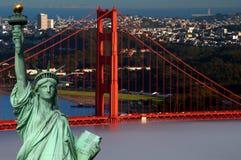 Concepto San Francisco del turismo y libertad de la estatua imagen de archivo libre de regalías