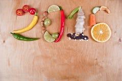 Concepto sano de la comida 2016 Imagenes de archivo