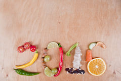Concepto sano de la comida 2016 Foto de archivo libre de regalías