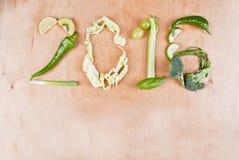 Concepto sano de la comida 2016 Fotografía de archivo libre de regalías