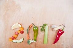 Concepto sano de la comida 2017 Imágenes de archivo libres de regalías