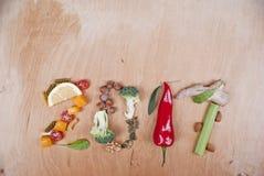 Concepto sano de la comida 2017 Imagenes de archivo