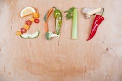Concepto sano de la comida 2017 Fotos de archivo libres de regalías