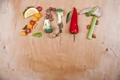 Concepto sano de la comida 2017 Fotografía de archivo libre de regalías