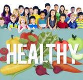 Concepto sano de la comprobación de la nutrición de la forma de vida de la revisión médica foto de archivo