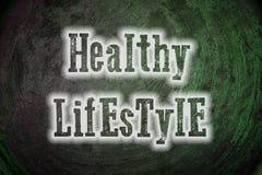 Concepto sano de la forma de vida stock de ilustración