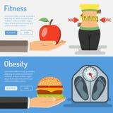 Concepto sano de la forma de vida y de la obesidad Fotografía de archivo