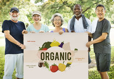 Concepto sano de la nutrición de la comida de la consumición fotos de archivo libres de regalías