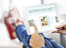 Concepto sano de la nutrición de la forma de vida del bienestar de las comidas fotografía de archivo libre de regalías