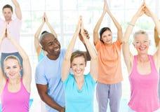 Concepto sano de la relajación del cuerpo de la atención sanitaria de la aptitud Imagen de archivo