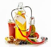 Concepto sano de los ingredientes alimentarios Fotos de archivo
