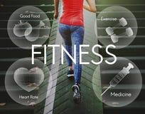 Concepto sano del bienestar del ejercicio de la aptitud de la atención sanitaria Fotografía de archivo libre de regalías