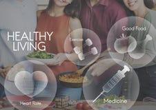 Concepto sano del bienestar del ejercicio de la aptitud de la atención sanitaria Imagen de archivo