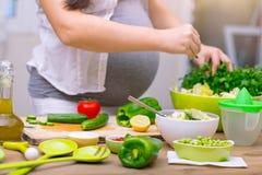 Concepto sano del embarazo Fotografía de archivo
