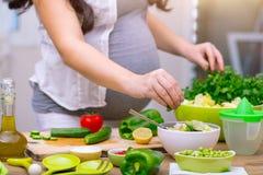 Concepto sano del embarazo Imagen de archivo