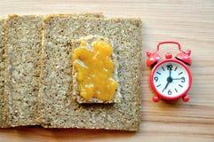 Concepto sano del tiempo de desayuno Imagen de archivo libre de regalías