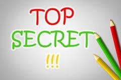 Concepto secretísimo stock de ilustración