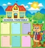 Concepto semanal 2 del calendario de la escuela Imagen de archivo