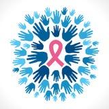 Concepto SIDA de la conciencia Foto de archivo