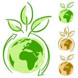 Concepto simplemente verde Ilustración del Vector