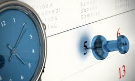 Concepto sincronizado de la puntualidad Imagenes de archivo