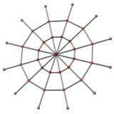 Concepto social 3d del Web de la red Imagenes de archivo
