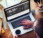 Concepto social Blogging de la red del homepage del blog medios fotografía de archivo