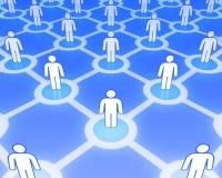 Concepto social 3D de la red Imagen de archivo