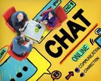 Concepto social de charla de Internet de la comunicación de la charla medios Fotos de archivo libres de regalías